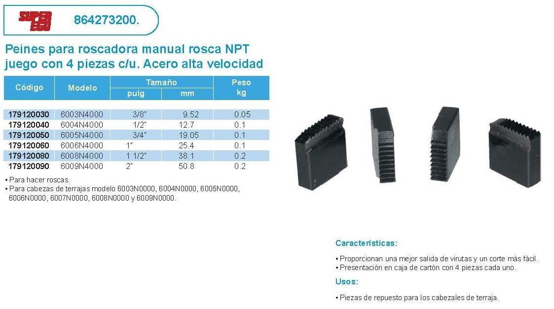 ... Array - equipos de corte peine para roscadora manual rosca npt super  ego rh ferreintegracion com 7cd21eb5b8319